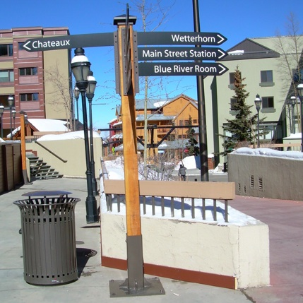Street Sign Post | Wayfinding | Breckenridge Resort