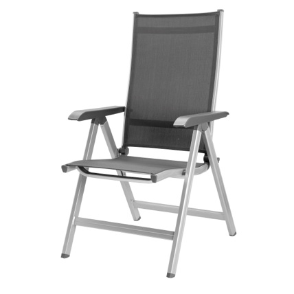 Basic Deck or Patio  Folding Chair - Navy Textilene - White