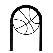 Bike Parking | Hoop Rack Art | Basketball