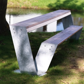 Community Table | Wood | Rectangle | Hopper Bench