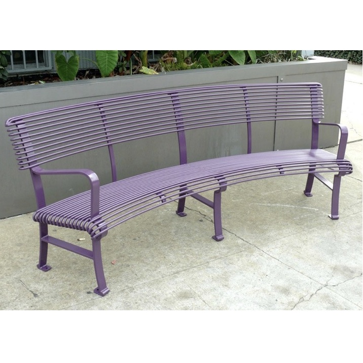 Streetscape Bench | French | Curved