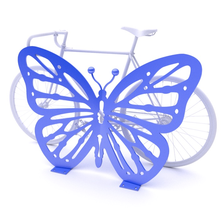 Bike Parking | Bike Rack Art | Butterfly