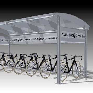 Bike Shelter | Eclipse | Curved Roof