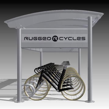 Bike Shelter | Eclipse | Flat Roof