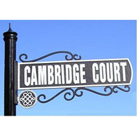 Street Sign | Decorative | Cambridge | 30x07