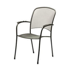 Carlo Deck or Patio Portable Arm Chair - Black