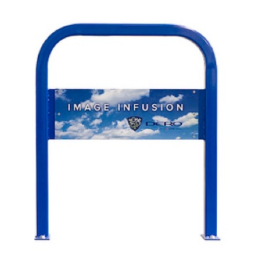 Bike Parking | Image Infused Rack | Clouds