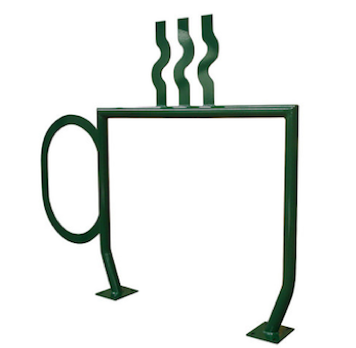 Bike Parking | Bike Rack Art | Coffee Mug