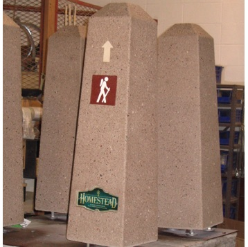 Park Furniture | Concrete Bollard | Trail Marker