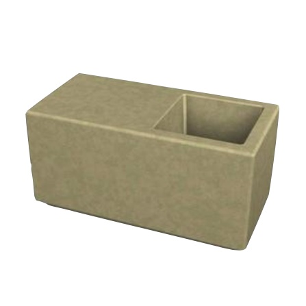 Concrete | 120 | Bench Planter