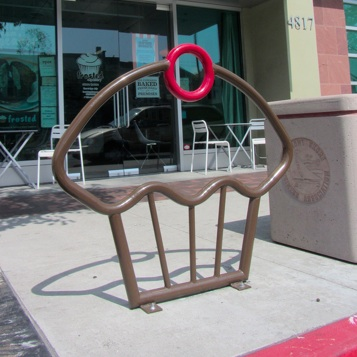 Bike Parking | Bike Rack Art | Cupcake