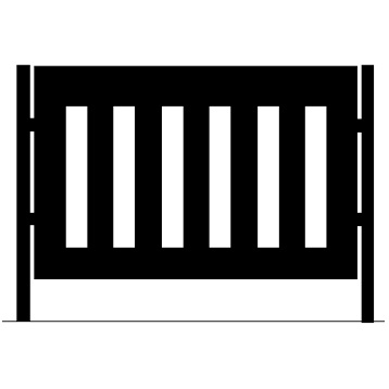 Cafe Fence Panel | Columns