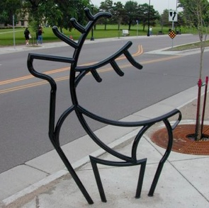 Bike Parking | Bike Rack Art | Deer