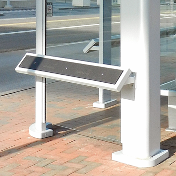 Bus Seat Bench | Leaning Rail