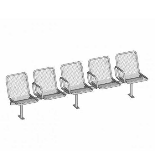Allegro Passenger Seating System - 5 Seat - 4 Arms - SM