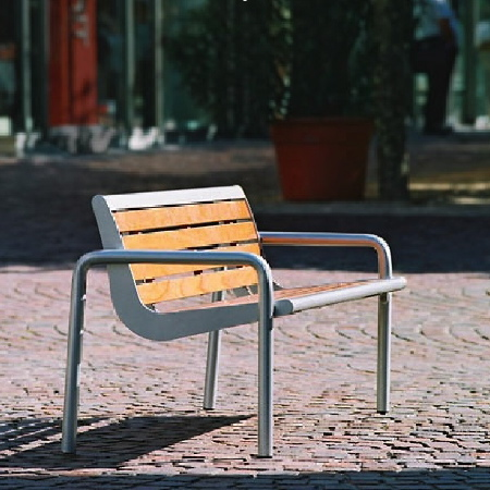 Charisma Pagwood Streetscape Bench - Surface Mount