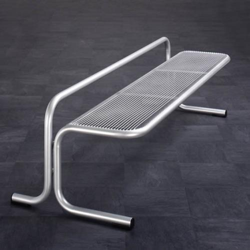 Piazza Mesh Urban Low Bench - Portable