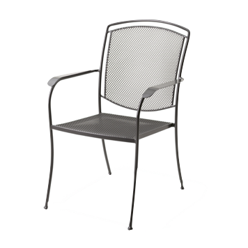 Henley Wrought Iron Pool and Patio Arm Chair
