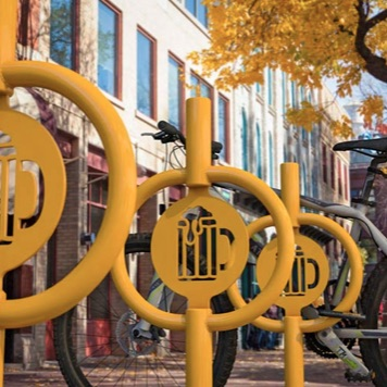 Bike Parking | Art Hitch Rack | Beer Mug