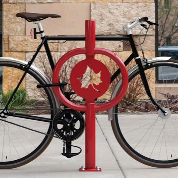 Bike Parking | Art Hitch Rack | Maple Leaf