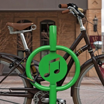 Bike Parking | Art Hitch Rack | Music Note