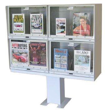 Newsbox | Flat Top | Square Pedestal