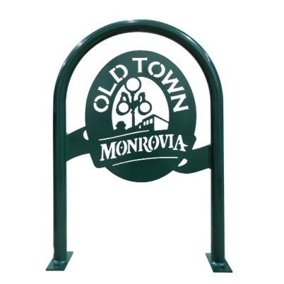 Bike Parking | Logo Rack | Old Town Monrovia