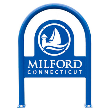 Bike Parking | Logo Rack | Milford