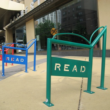 Bike Parking | Bike Rack Art | Book Read