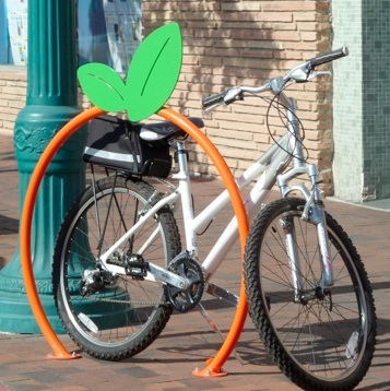 Bike Parking | Bike Rack Art | Orange
