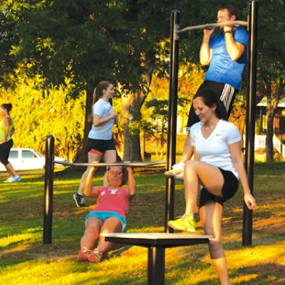 Outdoor Exercise and Fitness | Chin-Up Station