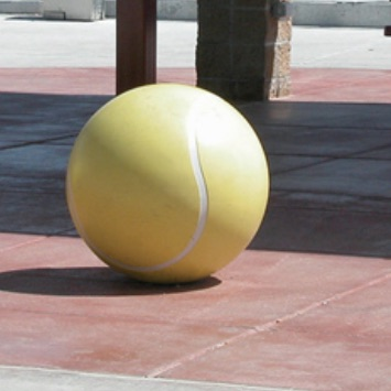 Park Furniture | Concrete Bollard | Tennis Ball