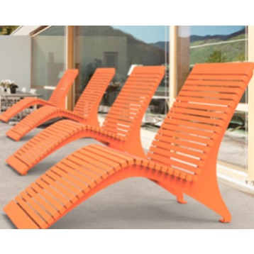 Park Furniture | Metal Slat Sunlounger | 720 M