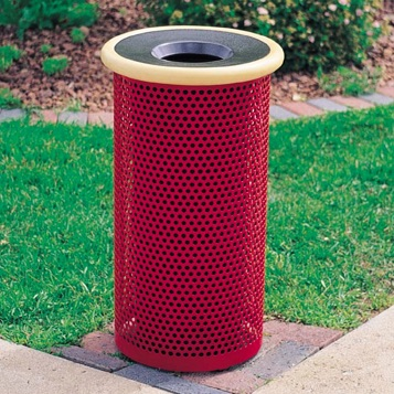 Park Trash | Round Perforated | 10