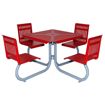 Park Table | Perforated | * 1110 | 3636 | Chairs