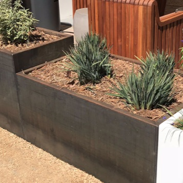 Planter | Steel | Wilshire Rectangle