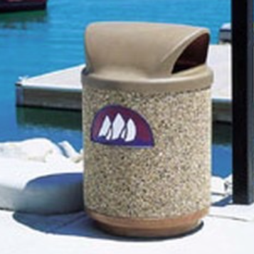 Trash Can | Precast | Logo | 1100