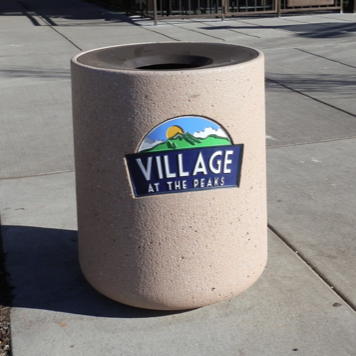 Trash Can | Precast | Logo | 1175