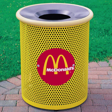 Trash Can | Perforated | Logo | 3001