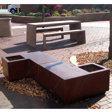 Concrete | 118 | Bench Planter
