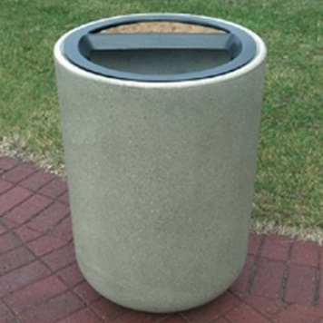 Precast Ash Trash Can | Round | 31 Gallons | 1086