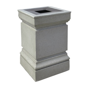 Precast Trash Can | Square | 22 Gallons | 1043