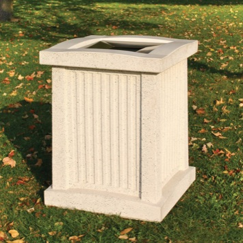 Precast Trash Can | Square | 24 Gallons | 102