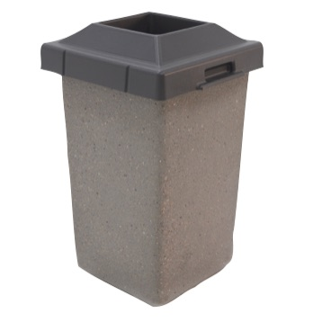 Precast Trash Can | Square | 24 Gallons | 1010