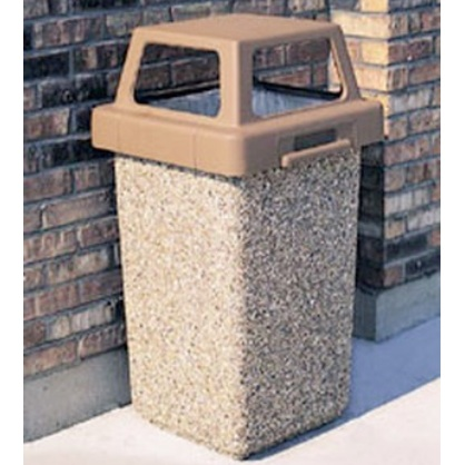 Precast Trash Can | Square | 24 Gallons | 1016