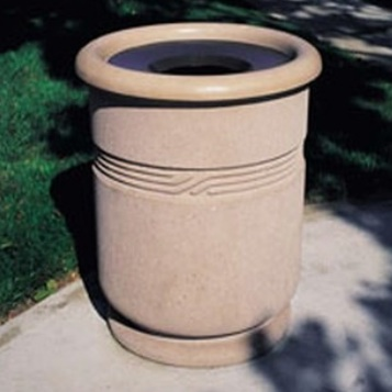 Precast Trash Can | Round | 24 Gallons | 1117