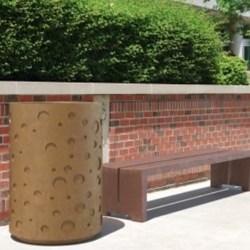 Precast Trash Can | Round | 27 Gallons | 100