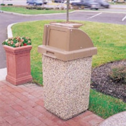 Precast Trash Can | Square | 30 Gallons | 1020