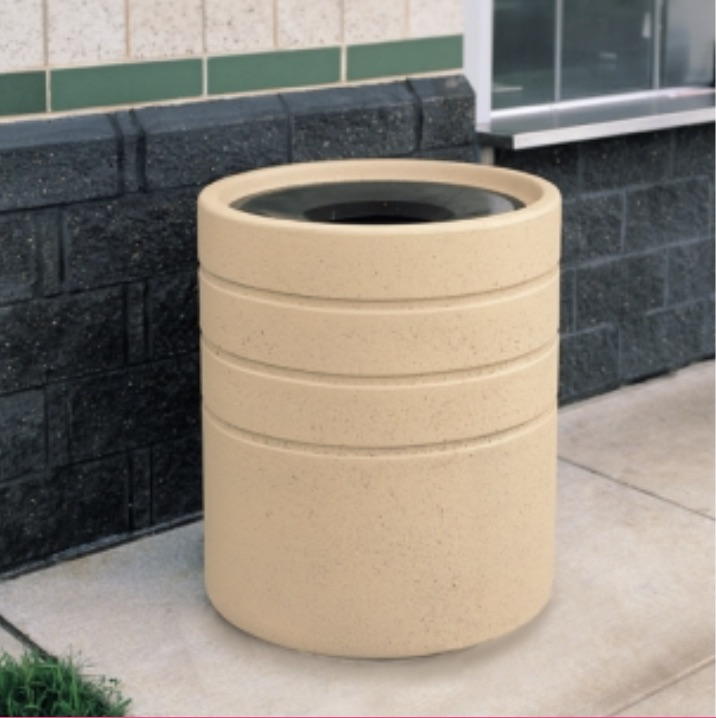 Precast Trash Can | Round | 42 Gallons | 1224