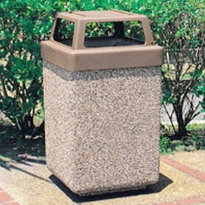 Precast Trash Can | Square | 45 Gallons | 1040